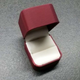 Krabička saténová červená
